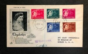 Southwest Africa 1953 Coronation FDC First Day cover