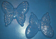 TWO MEDIUM SIZED DECORATIVE BUTTERFLY SHAPES CHOCOLATE MOULD OR PLASTER MOULD