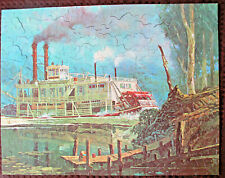 Vintage Guild Jig Saw Puzzle Series #131 Whippoorwill River Boat Complete 1940's