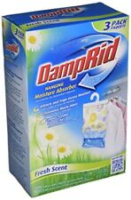 DampRid Hanging Moisture Absorber Air Freshner, Fresh Scent 14 Oz 3 Bags Per Box