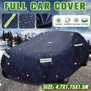 Heavy Duty Waterproof Full Car Cover All Weather Protection Outdoor Universal L