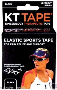 Kinesiology Therapeutic KT Tape Elastic Sports Tape 14 Count - Black WA55999