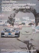 1985 Porsche Jochen Mass 956 Victory Showroom Advertising  Racing Poster