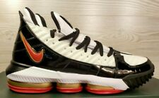 "Nike Lebron XVI SB 16 ""Remix"" White Black Red Gold Leather CD2451-101 Pick Size"
