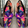 Womens Plus Size Jumspuit Sleeveless Rompers Floral Playsuit Casual Fat Clothing
