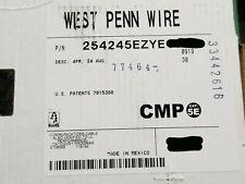 West Penn Wire 254245 24/4P Cat5E UTP Plenum Network Cable CMP Yellow /100ft