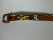 Boys Cowboy belt 24 hand painted vintage Mexico