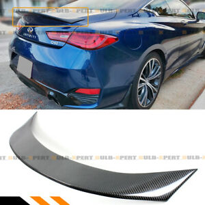 FOR 2017-2021 INFINITI Q60 V2 HIGH KICK CARBON FIBER DUCKBILL TRUNK SPOILER WING