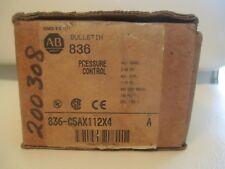 Allen Bradley 836-C5AX112X4 Pressure Control Series A NIB !!
