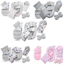 BABYMAM Kokon Set Babyhörnchen  Nestchen Minky Decke Kissen 7n1 Tasche gratis