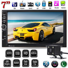 "Bluetooth 7"" HD 2Din Touch In Dash Car MP3 MP5 Radio TV Player GPS Navi +Camera"