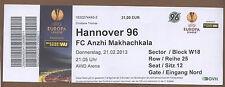 Orig.Ticket   Europa League 12/13   HANNOVER 96 - ANZHI MAKHACHKALA  !!  RARE