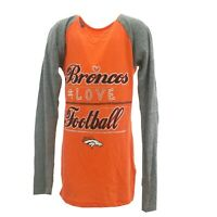 Denver Broncos Official NFL Kids Youth Girls Size Long Sleeve Shirt New Tags