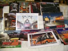 Model Train MTH 9 Large Color Catalogs, 3 Small Catalogs, Assorted Papers/Flyers