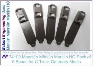 EE 74109 New Maerklin Märklin Marklin HO Metal Bases for C Track Catenary Masts