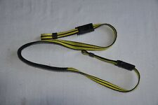 VINTAGE YELLOW/ BLACK SHOULDER NECK STRAP FOR SLR CAMERA USED *U96**