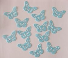 48 EDIBLE BLUE BUTTERFLY RICE / WAFER PAPER CUPCAKE CAKE TOPPERS