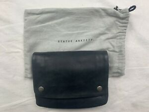 NEW Status Anxiety WOMENS NORMA WALLET BLACK LEATHER - FREE SHIPPING