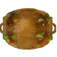Vintage MCM Decorative Nut Bowl Multi Products Inc USA Multiharvest Grape Motif
