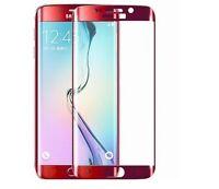 Samsung Galaxy S6 Edge PANZERGLAS 3D FULL SCREEN 4D Hardsave Gewölbt Gebogen ROT