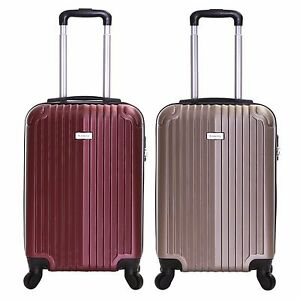 Ryanair EasyJet 55 cm Hard Cabin Approved Spinner Trolley Luggage Suitcase Case