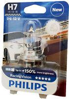 H7 PHILIPS  Racing Vision +150%  12V 55W PX26d  UK ref: 477  1st. 12972RVB1