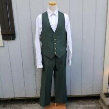 Johnny Carson Green Suit Jacket & Vest Size 36 Jcpenney Pants 32
