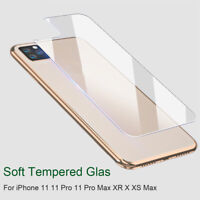 Clear Back Protective Film Tempered Glass for iPhone 11 11 Pro Max X XS Max