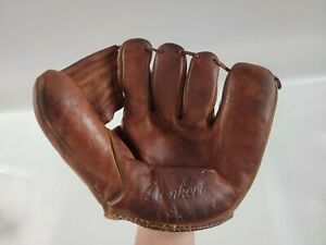 Vintage Denkert Henry Hank Thompson Signature Model Baseball Glove G54 Mitt