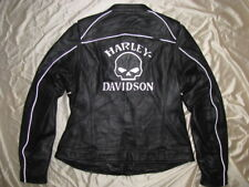 Harley Davidson Leather Jacket Limited Edition Reflective Skull Willie G W XL
