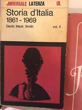 D. M. SMITH - STORIA D'ITALIA 1861 - 1969 - VOL. II - LATERZA - 1973