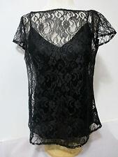 RALPH LAUREN Black Floral Lace 2pc.Top Sz.8~NWT~Gorgeous!