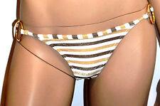 FREYA SLIPS BIKINI 1 PIEZA Beige dorado de rayas XS/FR36 Oro