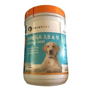 Omega 3, 6 & 9 Skin & Coat Support Vitamin Bites EPA, DHA, Fish Oil Exp 10/21