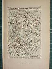 C1890 antiguo mapa ~ isotérmico líneas para enero & Julio hemisferio norte