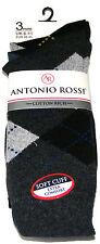 3 PAIA linea UOMO ANTONIO ROSSI Argyle COTTON Rich calzini Diamante-Nero, Blu scuro, grigio