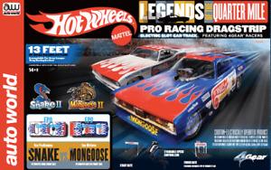 Auto World Hot Wheels Legends HO Slot Car Dragstrip SRS334