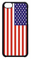 USA American Flag Pattern Black or White Hard Case Cover For Apple iPod 4 5 6