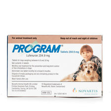 Program Flea Tablets - 6 pack Medium Dogs Flea Treatment 6.8-20Kg