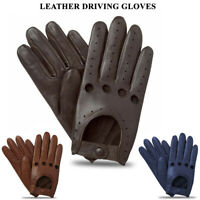 Men's Classic Retro Style Quality Chauffeur Soft Lambskin Leather Driving Gloves