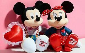 Disney Store Minnie & Mickey Mouse Sweetheart Medium Soft Toys 2021 ❤️❣️ ❣️ ❤️