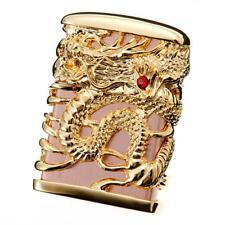 Zippo Tenryu Sky Dragon Full Metal Jacket Brass Pink Gold F/S Japan Limited Rare