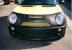 Colgan Front End Mask Bra 2pc. Fits Mini Cooper S Convert. 2005-2008 W/Lic.Plate