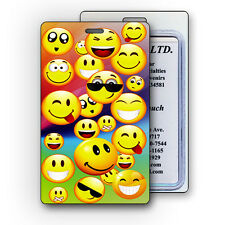 Luggage Bag Travel Tag with 3D Cool Smiley Faces Effect Lenticular #LT01-299#