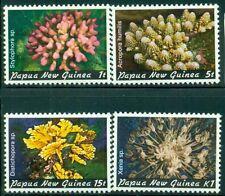 PAPUA NEW GUINEA 566-69 SG438,440,443,450 MNH 1982 Corals set of 4 Cat$5