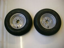 "2 OFF 145/80 B 10 4 PLY  4 STUD 4"" PCD TRAILER WHEELS & TYRES  NEW ITEMS"