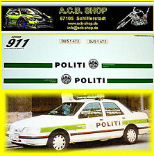Politi Denmark 1996 Ford + Opel Vectra 1:87 Decal Abziehbild World Police Cars