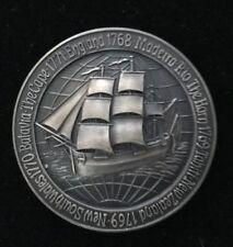 1970 Captain James Cook, Aust Bi-Centenary Oxidised Silver Medal      m