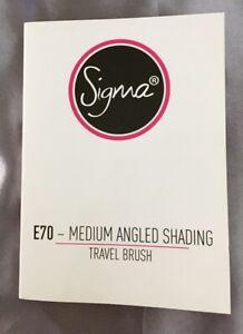Sigma E70 Medium Angled Shading Travel Eyeshadow Brush Pink