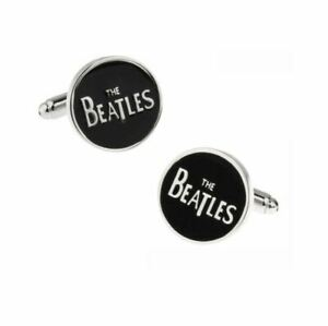 THE BEATLES - BLACK & SILVER CUFF LINKS